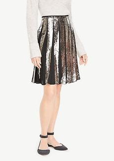 Ann Taylor Sequin Full Skirt