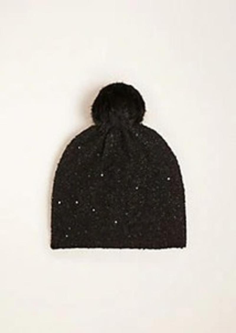 Ann Taylor Sequin Shimmer Hat