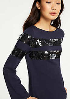 Ann Taylor Sequin Stripe Sweater
