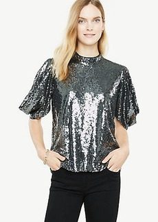 Sequined Puff Sleeve Top