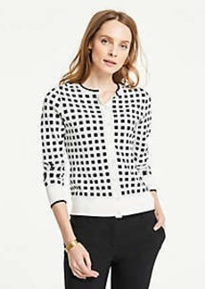 Ann Taylor Shadowed Square Ann Cardigan