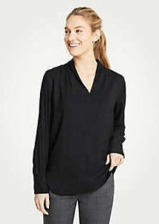 Ann Taylor Shawl Collar Blouse