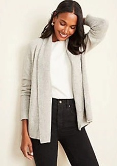 Ann Taylor Shawl Collar Open Cardigan