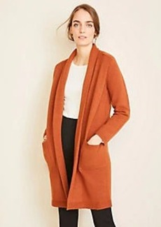 Ann Taylor Shawl Collar Open Coatigan