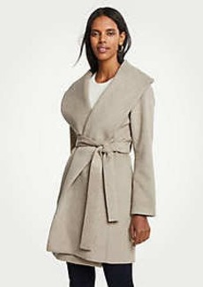 Ann Taylor Shawl Collar Wrap Coat