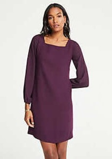 Ann Taylor Sheer Sleeve Shift Dress