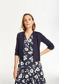 Ann Taylor Shimmer 3/4 Sleeve Dress Cardigan
