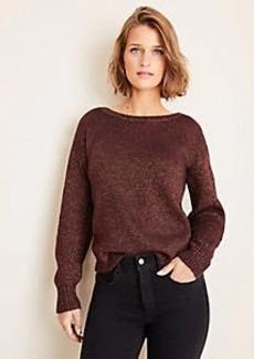 Ann Taylor Shimmer Balloon Sleeve Sweater