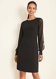 Ann Taylor Shimmer Clip Sleeve Shift Dress