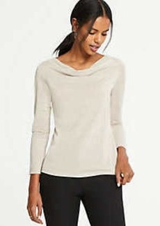 Ann Taylor Shimmer Cowl Neck Top