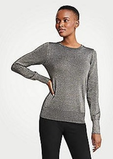 Ann Taylor Shimmer Crew Neck Sweater