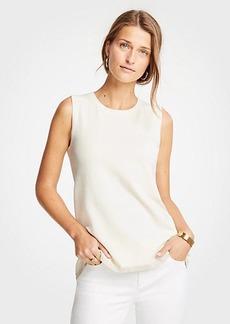 Ann Taylor Shimmer Hem Sweater Shell