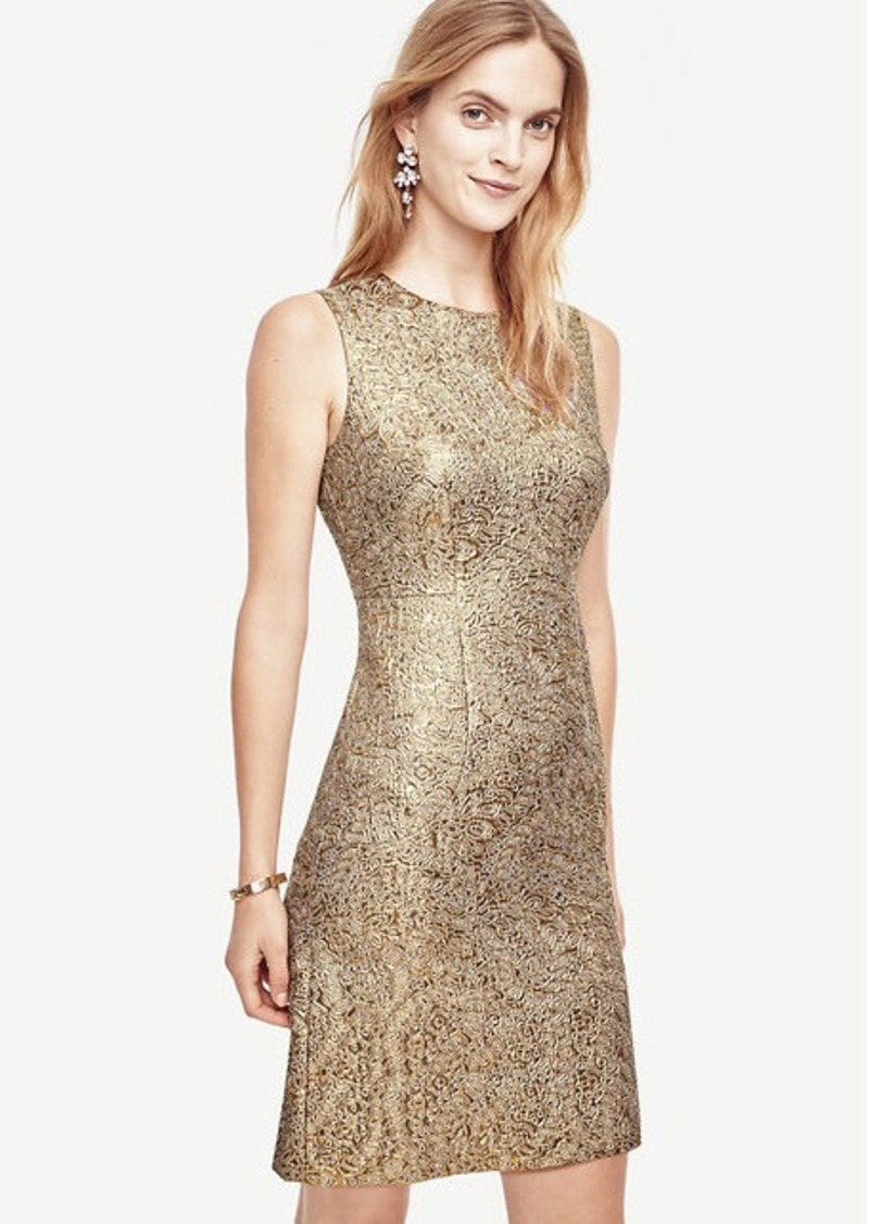 be4ca1799aed Ann Taylor Shimmer Jacquard Flare Dress | Dresses