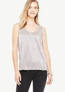 Ann Taylor Shimmer Pleated Shell
