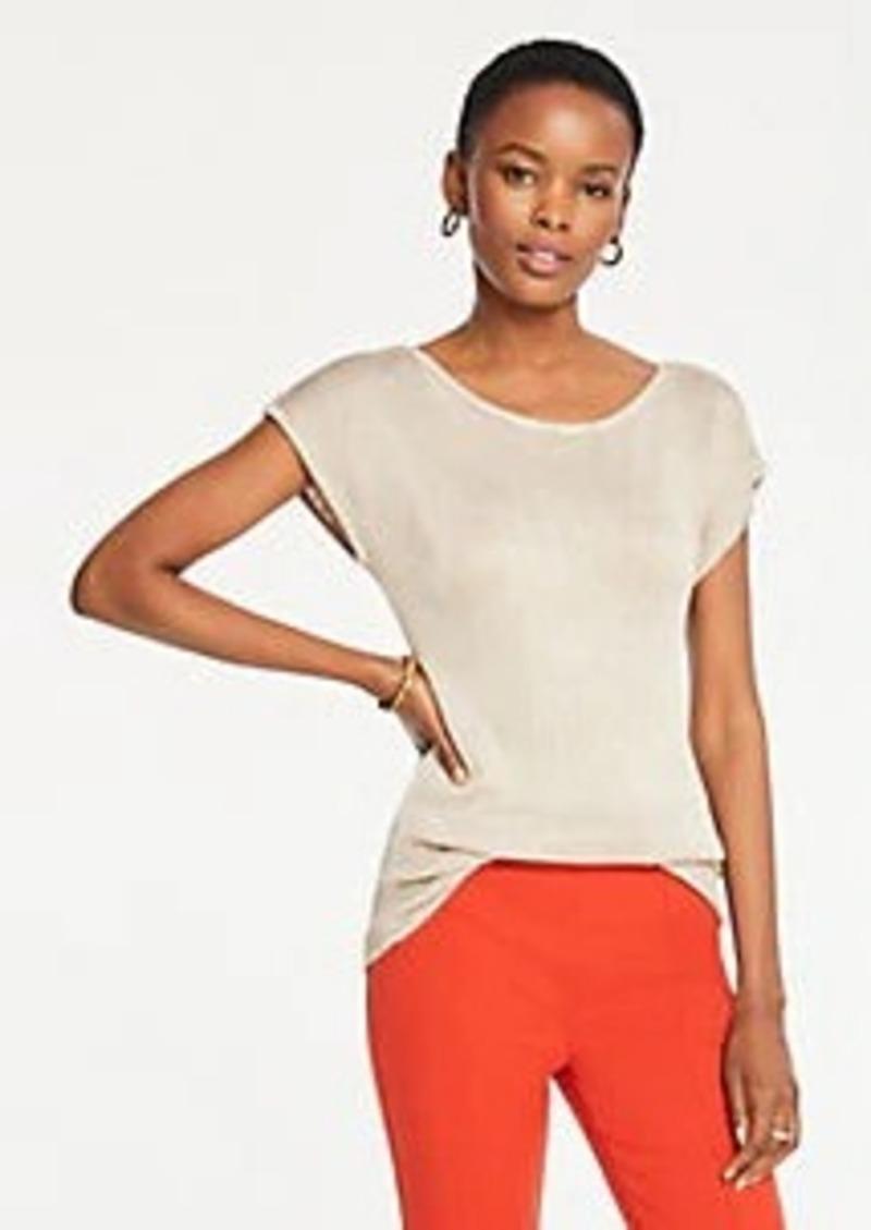 Ann Taylor Shimmer Short Sleeve Sweater