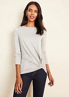 Ann Taylor Shimmer Side Knot Tee