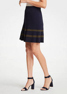 Ann Taylor Shimmer Stripe Sweater Skirt