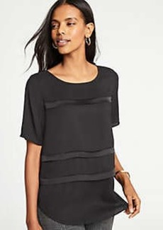 Ann Taylor Shimmer Striped Tee