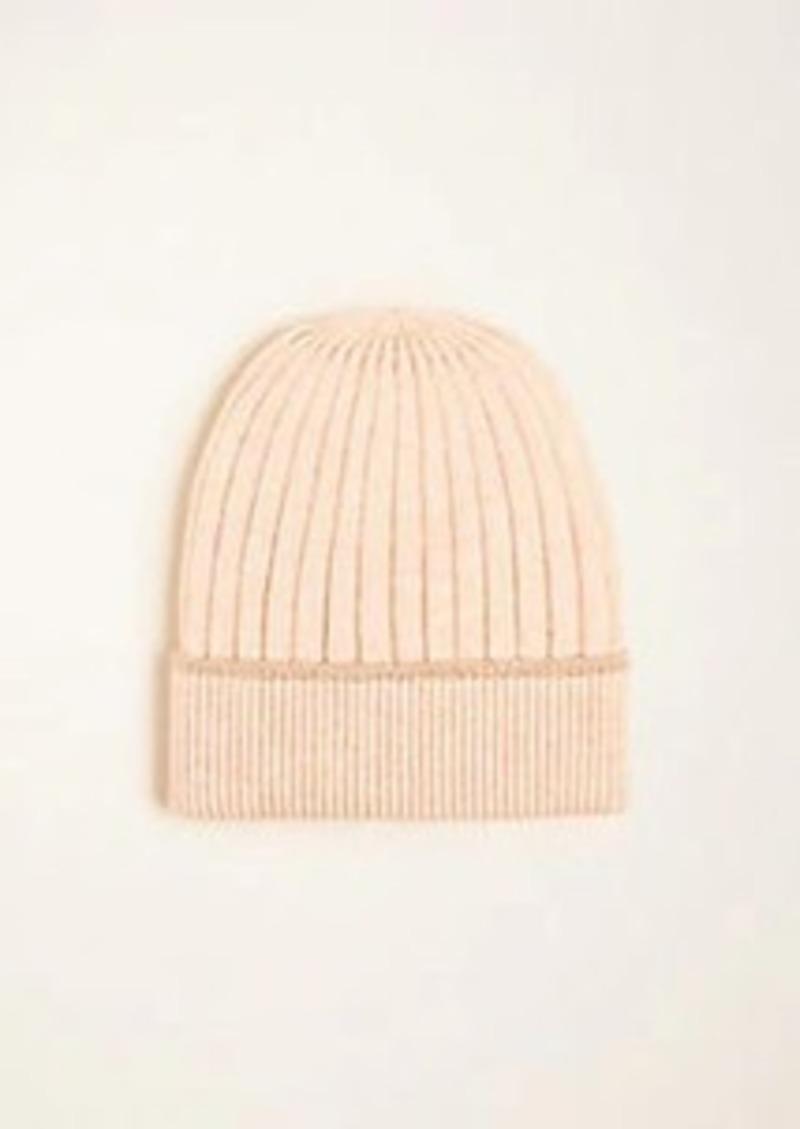 Ann Taylor Shimmer Trim Ribbed Hat