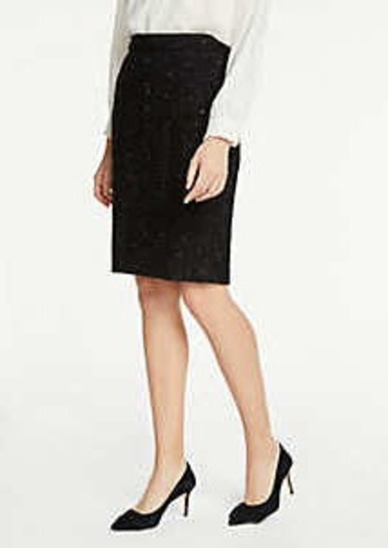 Ann Taylor Shimmer Tweed Pencil Skirt