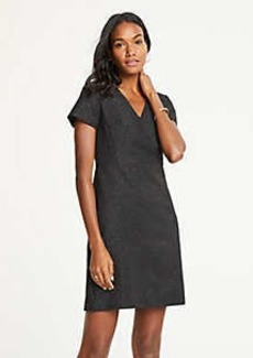 Ann Taylor Shimmer V-Neck Sheath Dress