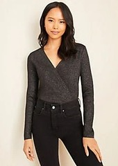 Ann Taylor Shimmer Wrap Sweater
