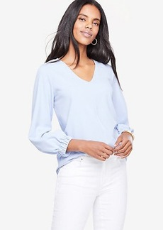 Shirred Cuff Top