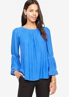 Shirred Flare Sleeve Blouse