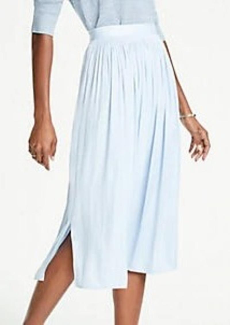 Ann Taylor Shirred Midi Skirt