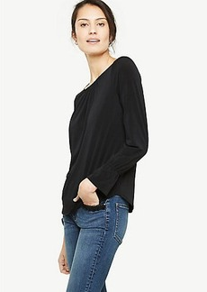 Shirred Ruffle Cuff Top