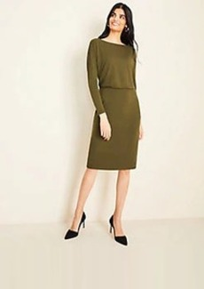 Ann Taylor Shirred Sheath Dress