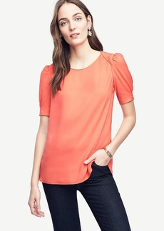 Shirred Short Sleeve Blouse
