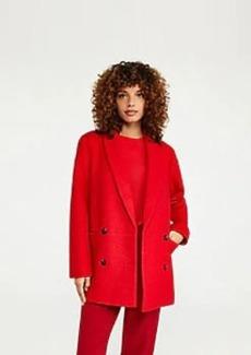 Ann Taylor Short Shawl Collar Cocoon Coat