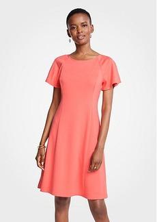 Ann Taylor Short Sleeve Flare Dress