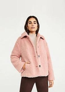 Ann Taylor Short Teddy Coat