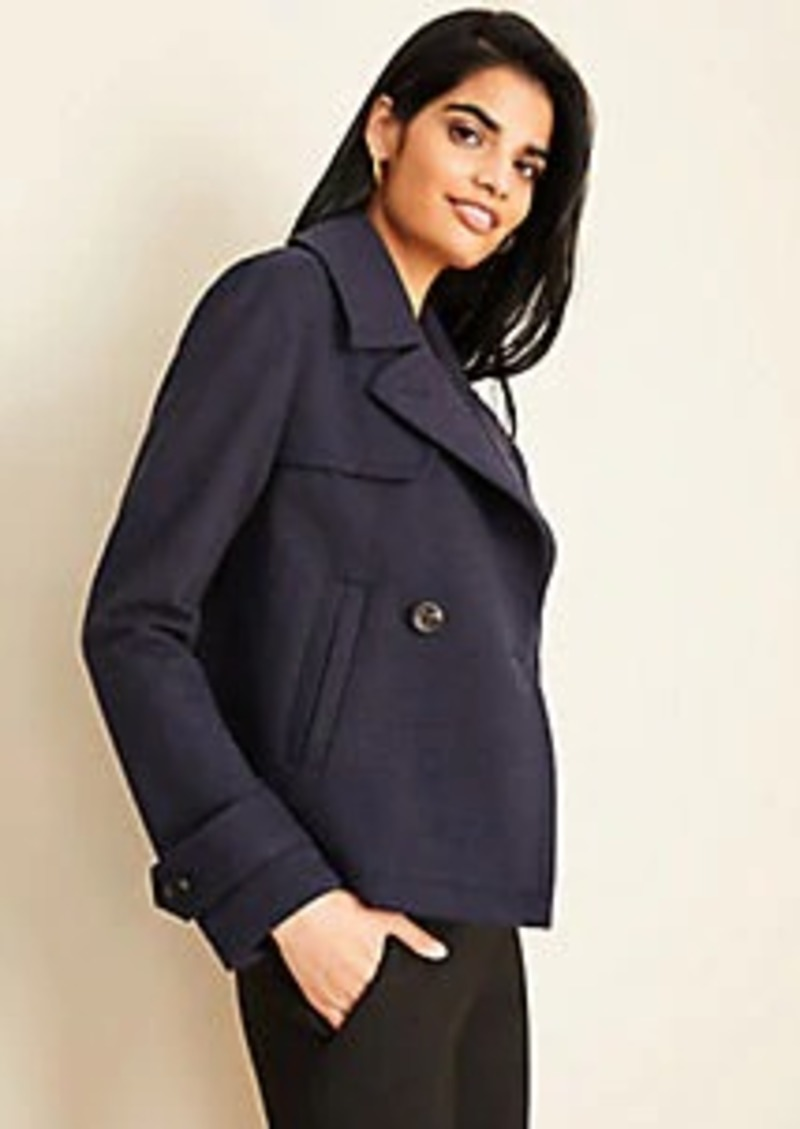 Ann Taylor Short Trench Coat