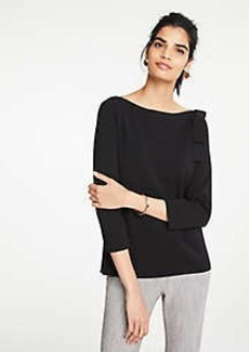 Ann Taylor Shoulder Bow Boatneck Sweater