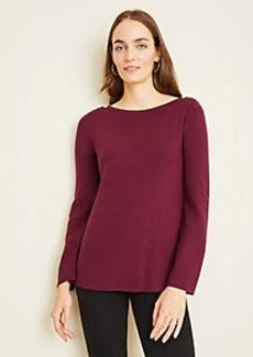 Ann Taylor Shoulder Button Boatneck Sweater