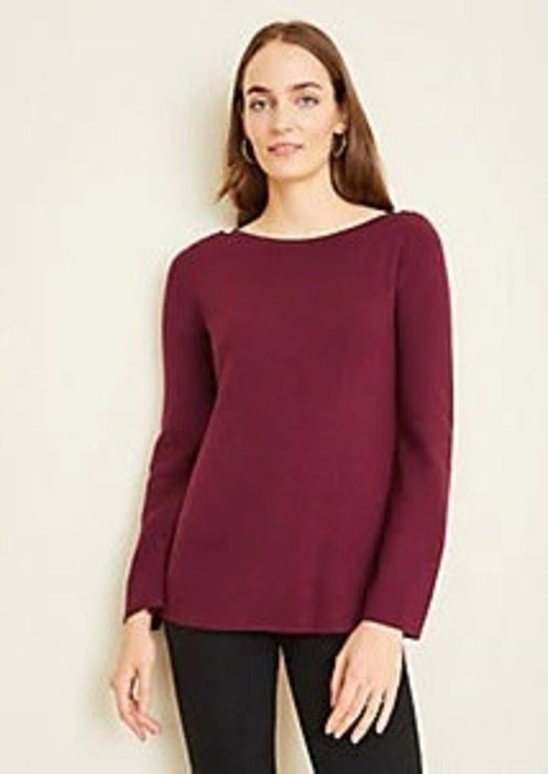 Ann Taylor Shoulder Button Boatneck Sweater