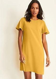Ann Taylor Shoulder Button Flutter Sleeve T-Shirt Dress