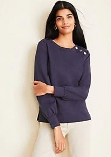 Ann Taylor Shoulder Button Sweatshirt