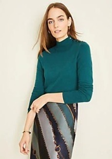 Ann Taylor Shoulder Button Turtleneck Sweater