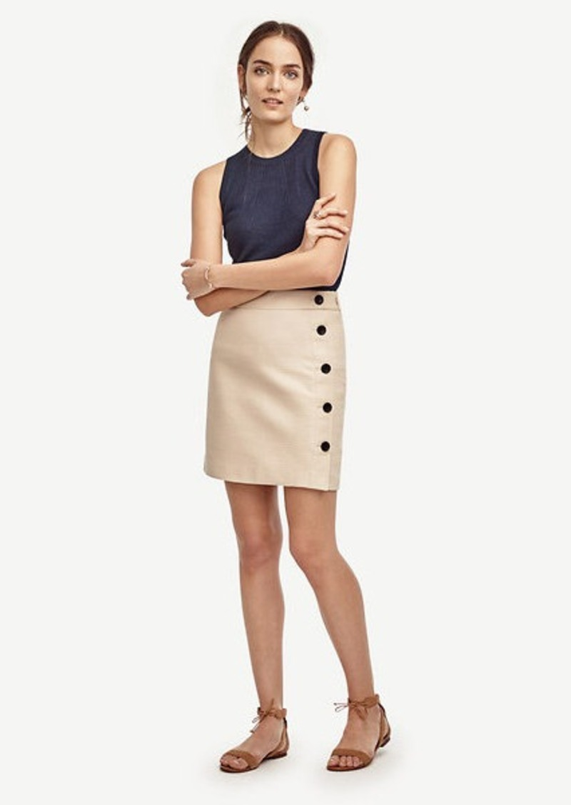 Ann Taylor Side Button Skirt