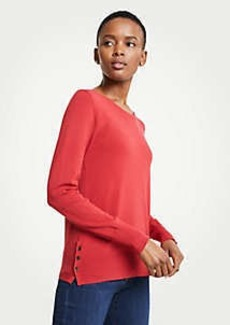 Ann Taylor Side Button Sweater