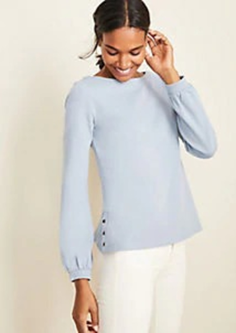 Ann Taylor Side Button Sweatshirt