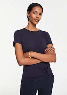 Ann Taylor Side Knot Tee