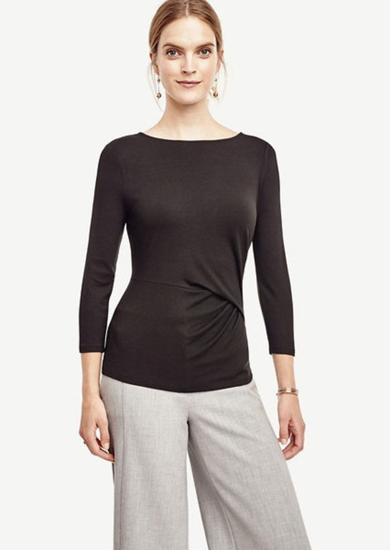 Ann Taylor Side Pleat Top