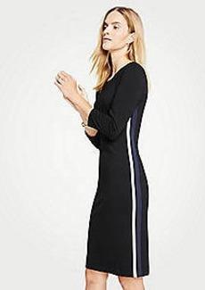 Ann Taylor Side Stripe Ponte Sheath Dress