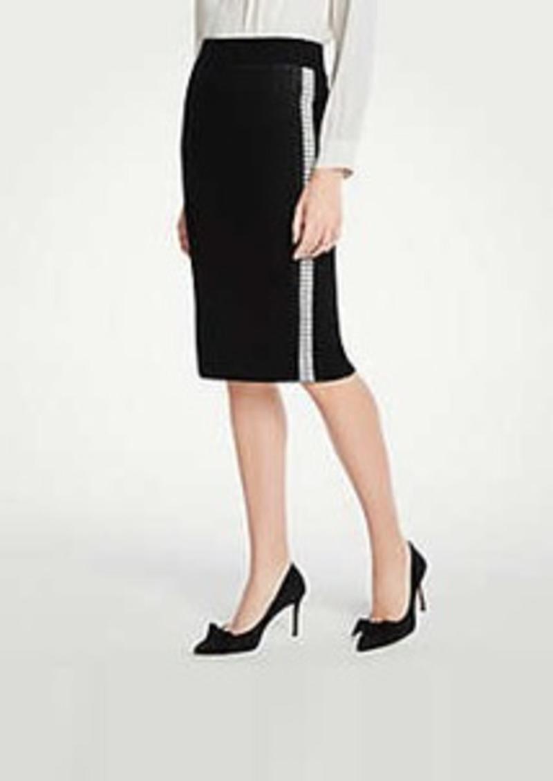 Ann Taylor Side Stripe Sweater Pencil Skirt