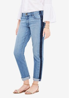Ann Taylor Side Striped Girlfriend Jeans